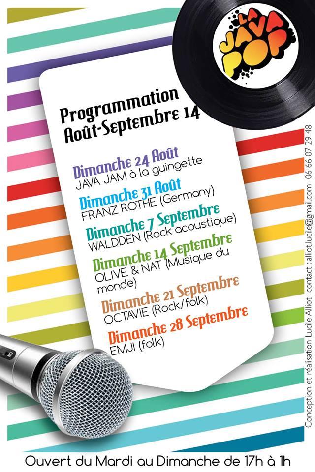 programme aout / sept 2014